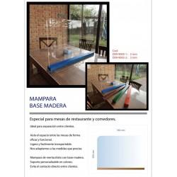 MAMPARA BASE DE MADERA